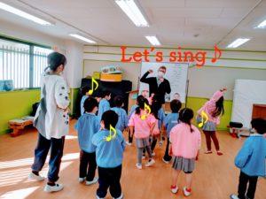 幼稚園課内授業の様子